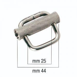 FIBBIA AUTOBLOC. PASSANTE INOX mm 25
